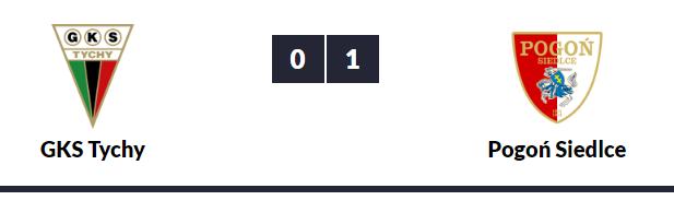Wynik GKS Tychy - Pogoń Siedlce 0-1