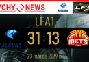 FLA1 : Tychy Falcons – Warsaw Mets 31:13