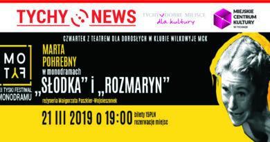 """Czwartki z Teatrem w Klubie Wilkowyje MCK : Marta Pohrebny – """"Rozmaryn"""", """"Słodka"""""""