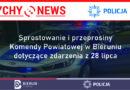 Sprostowanie i przeprosiny Komendy Powiatowej w Bieruniu dotyczące zdarzenia z 28 lipca 2020 r.