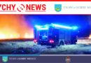 Pożar w składzie makulatury w Tychach.