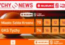 Tyscy koszykarze wygrywają w Krośnie : Miasto Szkła Krosno – GKS Tychy  70:74.